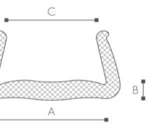 22st Karmskydd 2m x 100-120/160 Stretch