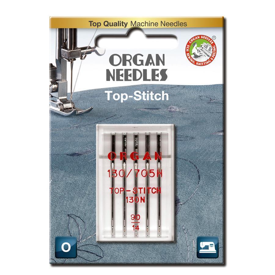 Nål Organ Top Stitch 90, 5-pakk