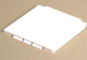 Sähkörasian  kansi valkoinen. 114x114 2:lla saranatapilla