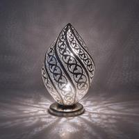 Twist Filigrain Bordlampe - Medium Silver