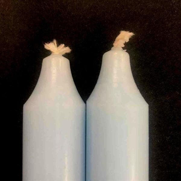 Isblå Rustik Kronelys