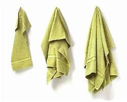 Duschhandduk grön 70 x 140 cm