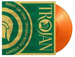 RIGHT ON TIME-TROJAN ROCK STEADY-ORANGE 2LP