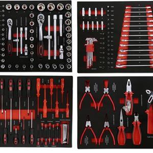 G-Tools Työkaluvaunu 217-os. työkaluvarustuksella EVA Foam levyissä
