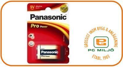 Batteri Pro Power Gold 9v/6LF22/1BP