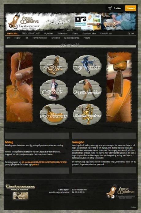 Nye websider med nettbutikk