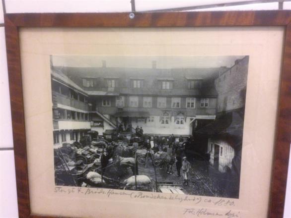 Bilde av bygningen fra 1700 tallet