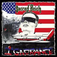 SACRED REICH: IGNORANCE-RED/WHITE MARBLED LP