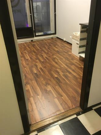Nytt gulv er lagt, klart for bruk..