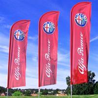 Beachflag 430cm - med flagg uten fot