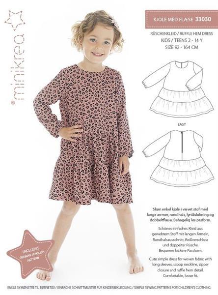 Minikrea: Kjole med flese 33030
