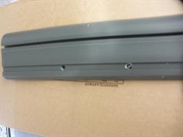 Helmalista muovi harmaa lev. 93mm / Solifer 2,9m salko
