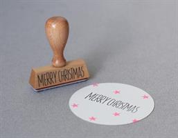 Stempel Large Merry Christmas Liggende
