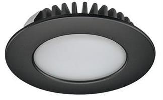 Spotlight 12v 55mm svart 2,7w