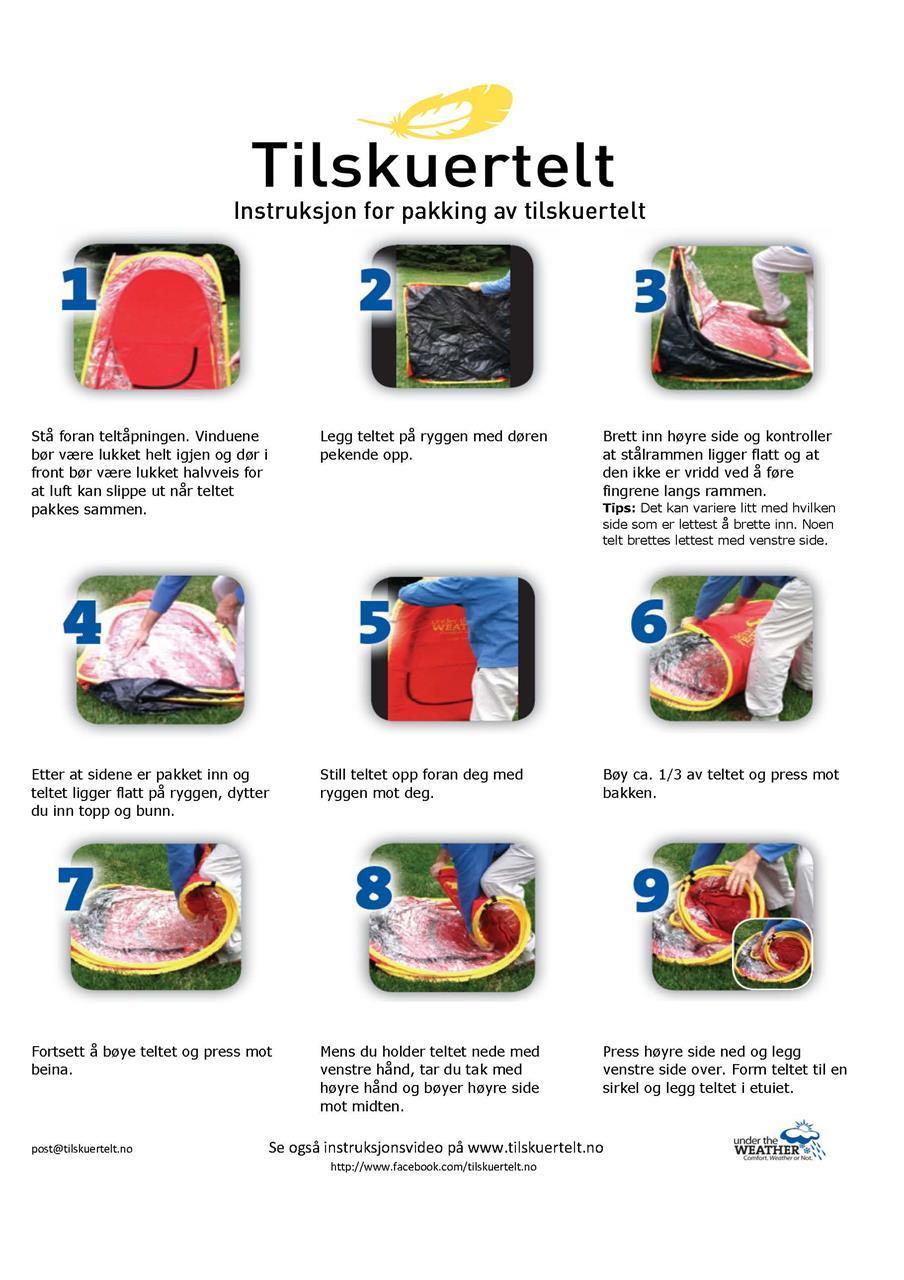 Instruksjon - pakke telt