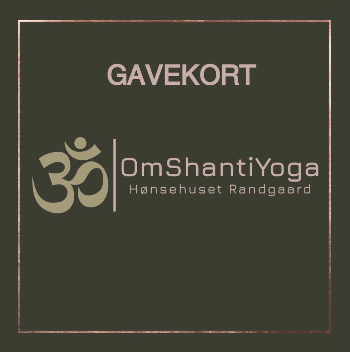 Gavekort OmShantiYoga
