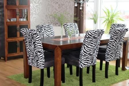 """Stoler med """"Zebra""""  stoff"""