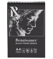 Piirustuslehtiö A4, 120g, 32 sivua, mustaa paperia