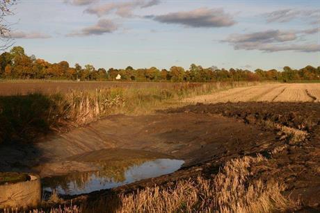 Damm som grävdes på Slåttergubbens initiativ