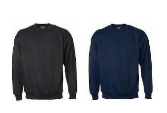 Sweatshirt 100%Bomull, Svart & Marin