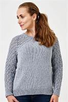 Sweater m mönstrade ärmar  i Luna