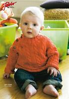 Flätst barntröja i Soft Cotton