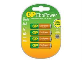 Batteri GP EkoPower, AAA LR03 4-p