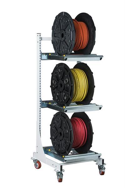 Bobinställ för 3 bobiner 600 mm c/c