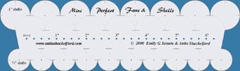 Vifte- og skjellmønster til håndquilting ¾