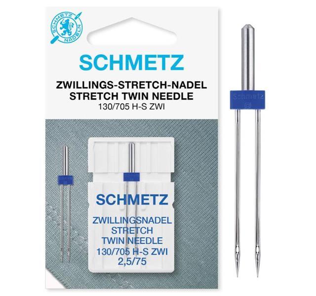 A. Schmetz stretch kaksoisneula 2,5mm