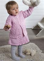 Babykofta och klänning i Baby Merino