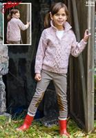 Barntröja med krage i Fuga Tweed