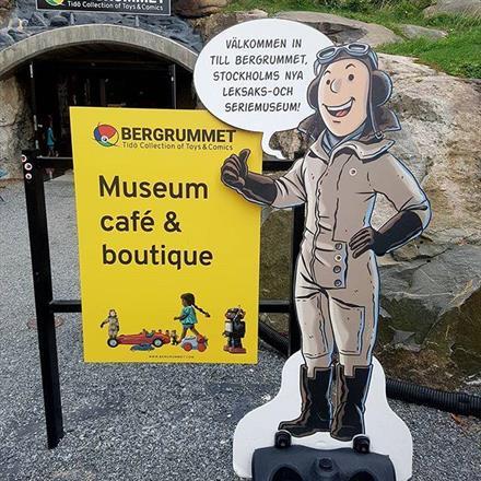 Reklam till Bergrummet Leksaksmuseum