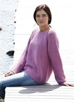 Rätstickad tröja i Soft Lama
