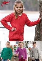 Barntröja och kofta med flätor