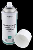Deltaco Rengöringsskum för plastytor 400 ml