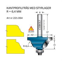 Kantprofilfräs R=6,4mm