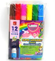Tussikynät 2-päiset 6 kynää, 12 väriä