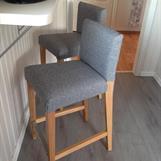 Ikea barstol med nytt trekk
