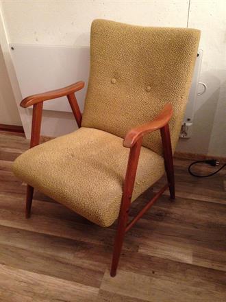 Før bilde av teak stol
