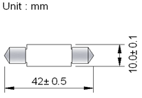 Spollampa SMD3 42mm