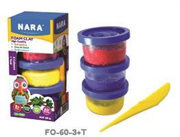 Helmimassa 3 eri väriä+työkalu. 3x20g