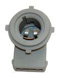 Lamphållare vinklad 3-stift exkl. glödlampa, för l