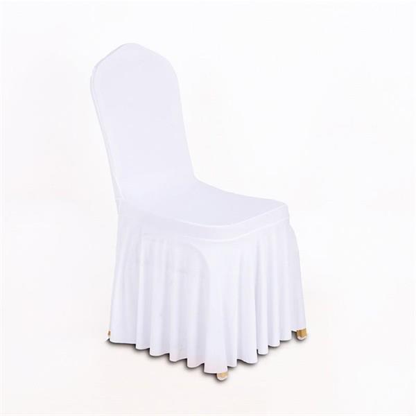Stoltrekk med kappe hvit