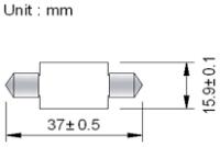 Spollampa SMD6 37mm
