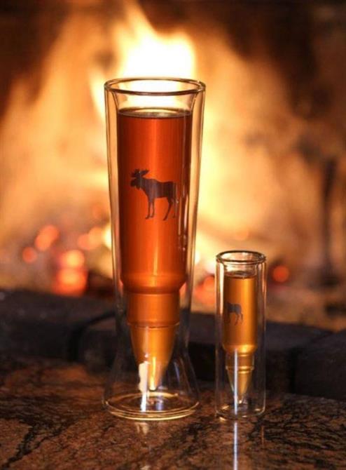 Øl og snapseglass