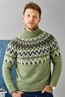 Mönstrad herrsweater i Luna