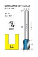 Notfräs D=14, L=20, TL=80mm