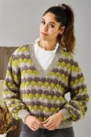 V-ringad sweater i Dagmar