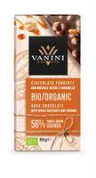 Vanini økologisk sjokolade 56% hasselnøtt & karame